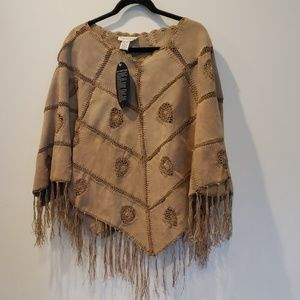 Newport news leather poncho